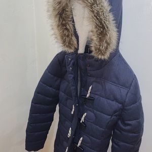 Quilted long winter jacket by Superdry